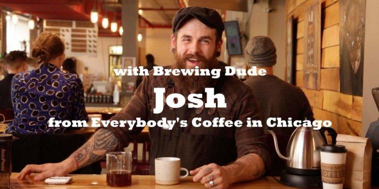 Everybodys coffee brewing