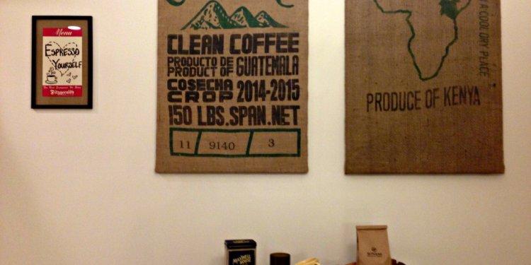 DIY: Burlap Coffee Bag Art