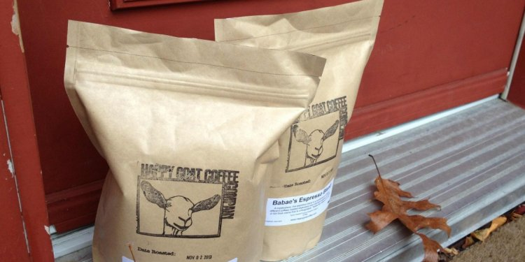 Of Happy Goat coffee beans