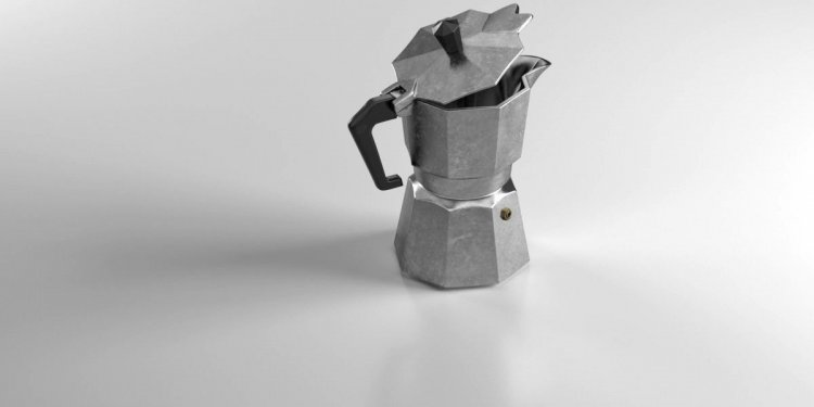 Italian moka coffee pot 3d