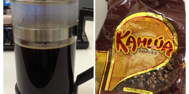 Kahlua coffee in French press