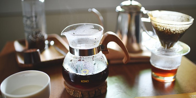 Pour over coffee with KONO dripper