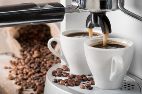 Coffee Machine being used
