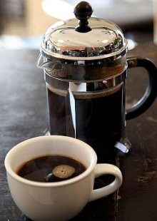Freshly Brewed French Press Coffee