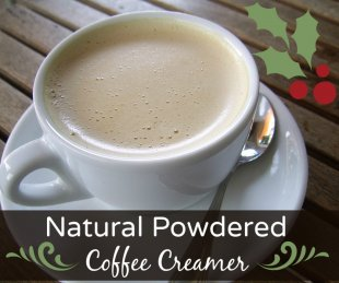 Natural Homemade Powdered Coffee Creamer Recipes! Do-it-yourself christmas and vacation gift suggestion