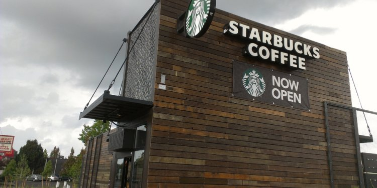 When was the first Starbucks built